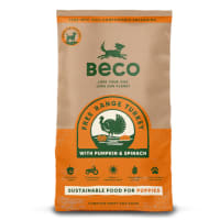 Beco Pets Eco-Conscious Puppy Dry Dog Food - Free Range Turkey with Pumpkin & Spinach