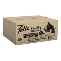 Purina Felix Doubly Delicious Adult Wet Cat Food - Meat Selection in Jelly