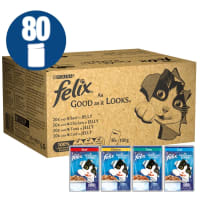 Felix Cat Food Fish And Poultry 80x100g
