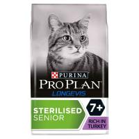 Purina Pro Plan Longevis Sterilised 7+ Senior Dry Cat Food - Turkey