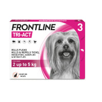 FRONTLINE Tri-Act Flea & Tick Treatment for X Small Dog (2-5kg) 3 Pack