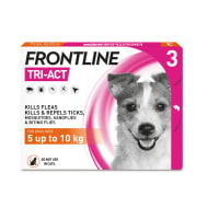 FRONTLINE Tri-Act Flea & Tick Treatment for Small Dog (5-10kg) 3 Pack