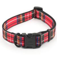 Ancol Nylon Tartan Adjust Collar