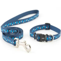 Ancol Puppy Collar and Lead Set Stars Blue
