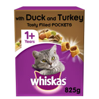 Whiskas Adult 1+ Complete Dry Cat Food - Duck & Turkey