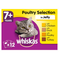 Whiskas Senior 7+ Wet Cat Food Pouches - Poultry Selection in Jelly