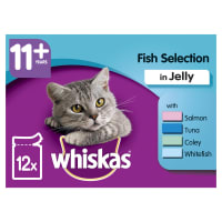 WHISKAS 11+ Cat Pouches Fish Selection in Jelly