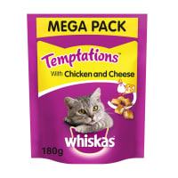Whiskas Temptations Adult Cat Treats - Chicken & Cheese
