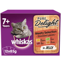 WHISKAS 7+ Cat Pouches Pure Delight Meaty Selection in Jelly