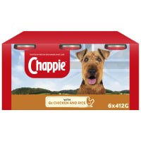 Chappie Adult Wet Dog Food Tins - Chicken & Rice
