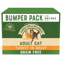 James Wellbeloved Grain Free Adult Cat Wet Food - Turkey in Gravy