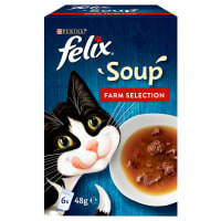 Felix Soup Tender Strips Adult Cat Wet Food - Farm Selection