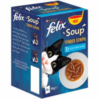 Felix Soup Tender Strips Adult Cat Wet Food - Fish Selection
