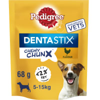 Pedigree Dentastix Chewy Chunx Mini Adult Dog Treat - Chicken