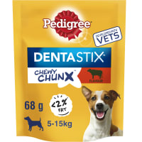 Pedigree Dentastix Chewy Chunx Mini Adult Dog Treats - Beef