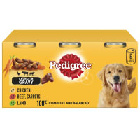Pedigree Adult Dog Food Tins - Country Casseroles in Gravy