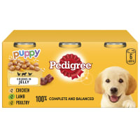 Pedigree Puppy Dog Food Tins - Mixed Selection in Jelly