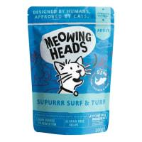 Meowing Heads Supurrr Surf & Turf Wet Cat Food Pouch