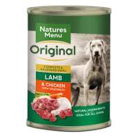 Natures Menu Adult Original Wet Dog Food Cans - Lamb & Chicken