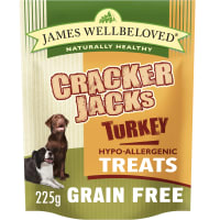 James Wellbeloved CrackerJacks Grain Free Hypo-Allergenic Dog Treats - Turkey