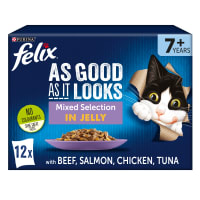 Purina Felix As Good As It Looks Senior Wet Cat Food - Mixed Selection in Jelly