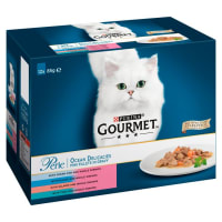 Gourmet Perle Mini Fillets Pouches Adult Wet Cat Food - Ocean Delicacies in Gravy