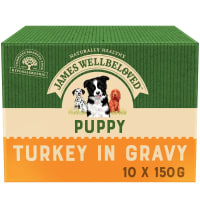 James Wellbeloved Puppy/Junior Wet Dog Food Pouches - Turkey & Rice