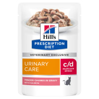 Hill's Prescription Diet Urinary Care c/d Urinary Stress Adult Wet Cat Food - Salmon