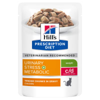 Hill's Prescription Diet Feline c/d Urinary Stress + Metabolic Aliment santé pour chat