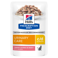 Hill's Prescription Diet Urinary Care c/d Multicare Wet Cat Food in Gravy - Salmon