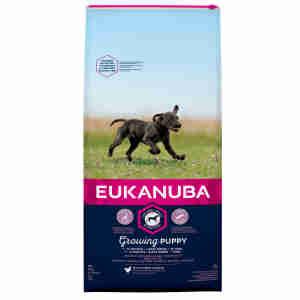 Eukanuba puppy hondenvoer groot ras met kip