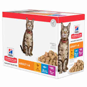 Hills Adult Optimal Care Tender Chunks (Multipack) voor katten