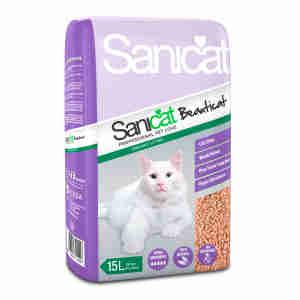 Sanicat Beauticat Houtpellets kattenbakvulling