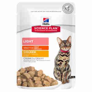 Hills Adult Light Tender Chunks (Multipack) voor katten