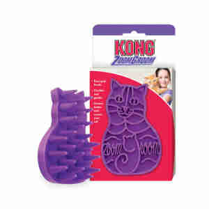 Kong ZoomGroom - Brosse massante pour chats