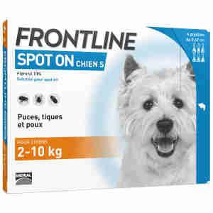 Frontline Spot On pour Petit Chien (2-10kg)