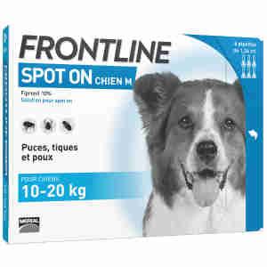 Frontline Spot On pour Chien Moyen (10-20kg)