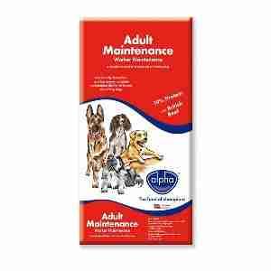Alpha Adult Dog Food Worker Maintenance