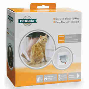 Staywell Manual 4 Way Locking Classic Cat Flap & Tunnel