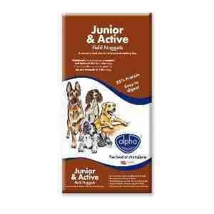 Alpha Junior & Active Field Nuggets Hundefutter