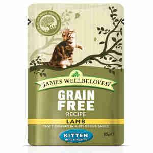 James Wellbeloved Grain Free Kitten Lamb Pouch