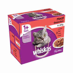 WHISKAS 1+ Cat Pouches in Jelly