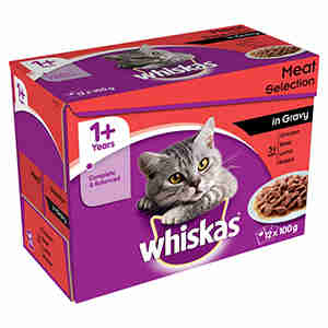WHISKAS 1+ Cat Pouches Selection in Gravy