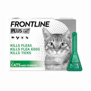Frontline Plus Flea & Tick Treatment Cat