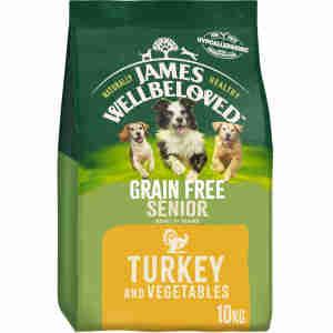 James Wellbeloved Dog Senior Grain Free met kalkoen en groente