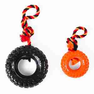 Kokoba Dog Chew Toy - Tyre with Rope