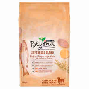 Beyond Simply Superfood Blend Adult Dry Dog Food Rich in Salmon with Oats and Added Sweet Potatoes