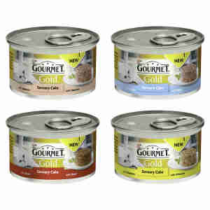Gourmet Gold Adult Cat Savoury Cake Wet Food Can