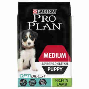 PRO PLAN Dog Medium Puppy Sensitive Digestion with OPTIDIGEST Rich in Lamb Dry Dog Food