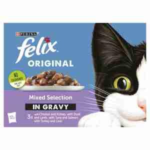 Felix Cat Food Meat Selection In Gravy